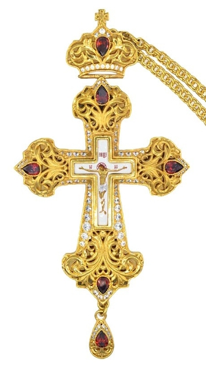 Pectoral priest cross no.130LP with chain