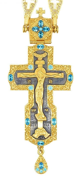 Pectoral priest cross no.186 with chain
