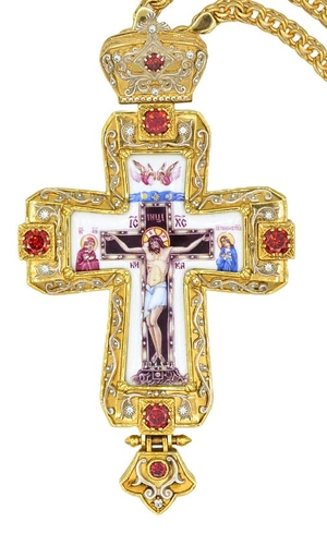 Pectoral priest cross no.196 with chain