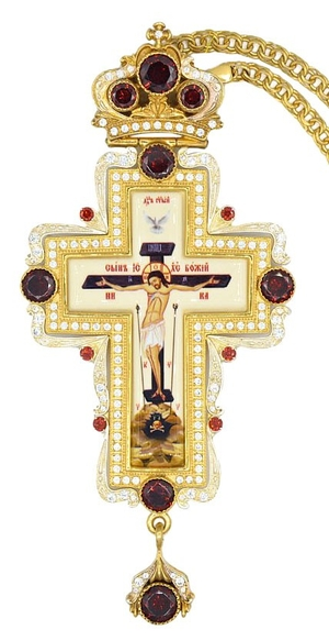 Pectoral priest cross no.261 with chain
