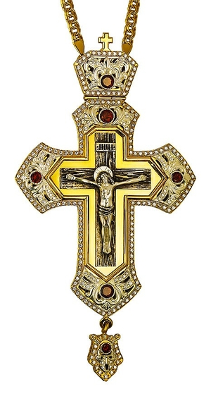 Pectoral priest cross no.266a with chain
