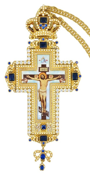 Pectoral priest cross no.309 with chain