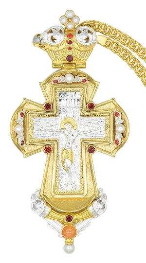 Pectoral priest cross no.317 with chain