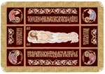Embroidered shroud of Christ - 96