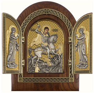 Folding icon - Holy Great Martyr St. George the Winner