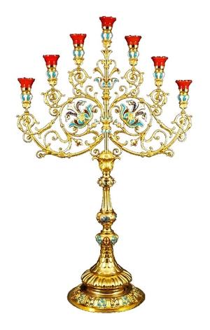 Church floor seven-branch candelabrum no.R4