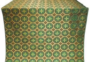 Posad Trinity metallic brocade (green/gold with claret)