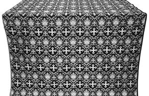 Vladimir metallic brocade (black/silver)