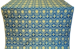 Vladimir silk (rayon brocade) (blue/gold)