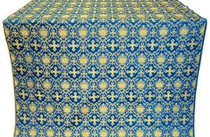 Vladimir silk (rayon brocade) (blue/gold)