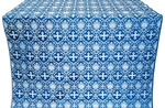 Vladimir silk (rayon brocade) (blue/silver)