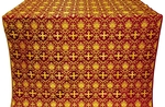 Vladimir silk (rayon brocade) (claret/gold)
