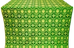 Vladimir silk (rayon brocade) (green/gold)