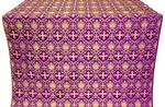 Vladimir silk (rayon brocade) (violet/gold)