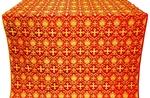 Vladimir silk (rayon brocade) (red/gold)