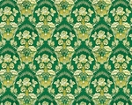 Radonezh metallic brocade (green/gold)