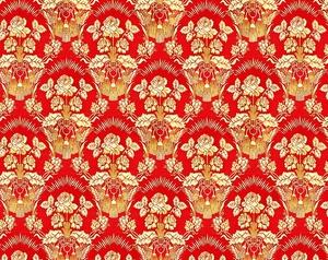 Radonezh metallic brocade (red/gold)