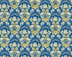 Radonezh silk (rayon brocade) (blue/gold)