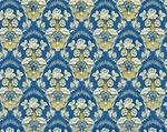 Radonezh silk (rayon brocade) (blue/gold)