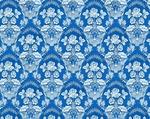 Radonezh silk (rayon brocade) (blue/silver)