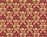 Radonezh silk (rayon brocade) (claret/gold)