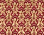 Radonezh silk (rayon brocade) (claret/gold)