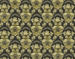 Radonezh silk (rayon brocade) (black/gold)