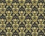 Radonezh silk (rayon brocade) (black/gold)