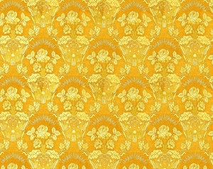 Radonezh silk (rayon brocade) (yellow/gold)