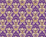 Radonezh silk (rayon brocade) (violet/gold)