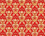 Radonezh silk (rayon brocade) (red/gold)