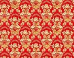 Radonezh silk (rayon brocade) (red/gold)