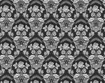 Radonezh silk (rayon brocade) (black/silver)