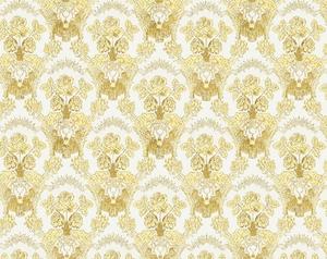 Radonezh silk (rayon brocade) (white/gold)