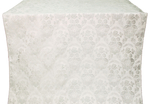 Radonezh silk (rayon brocade) (white/silver)
