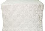 Radonezh silk (rayon brocade) (white/silver)