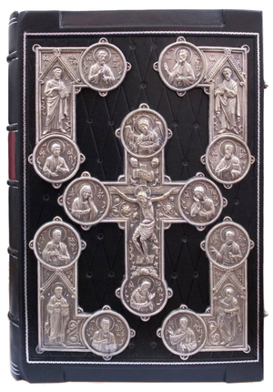 Orthodox service Gospel book in jewelry cover no.68