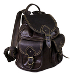 Natural leather backpack - 4