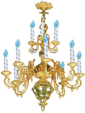 One-level church chandelier - 13 (12 lights)