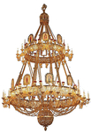 Two-level church chandelier - 11 (46 lights)