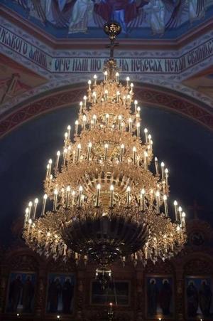 Five-level church chandelier - 108 lights