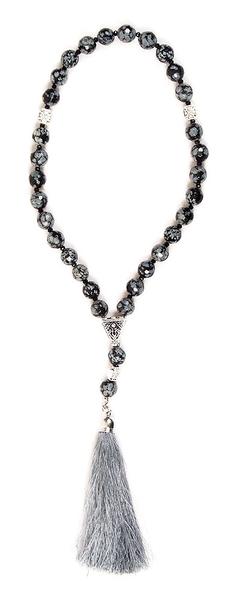 prayer-rope 30 knots - Obsidian