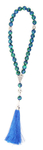 Orthodox prayer rope 30 knots - Azur-malachite
