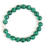 Orthodox prayer rope bracelet (20 knots) - Malachite