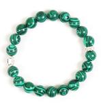 prayer-rope bracelet (20 knots) - Malachite