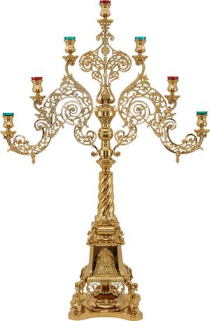 Church floor seven-branch candelabrum no.R2