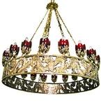 One-layer church chandelier (horos) - Zvenigorod (20 lights)