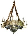 One-layer church chandelier (horos) - Galich (16 lights)