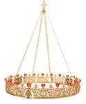 One-layer church chandelier (horos) - Sergiev (20 lights)