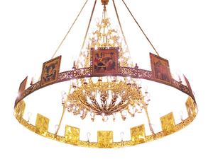 One-layer church chandelier (horos) - Saransk (20 lights)